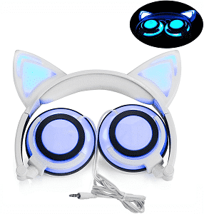 LIMSON Headphone Cat Ear Headset Lights
