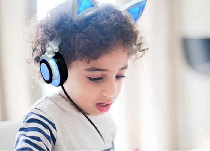 LIMSON Headphone Cat Ear Headset