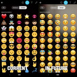 Before And After Improvements On Emojis