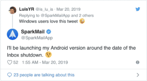 Spark Mail Debuts On Android As Google's Inbox Shuts Down