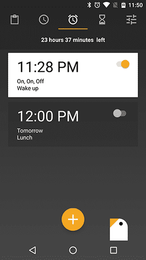 Simple Alarm Clock Apps for Android - Early Bird Alarm Clock - Main Interface