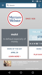 Merriam Webster Dictionary - Main Interface - Free Dictionary App for Android