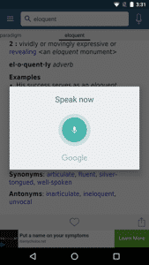 Merriam Webster Dictionary - Voice Search - Free Dictionary App for Android
