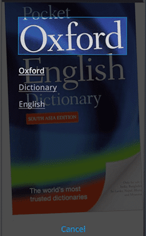 Oxford Dictionary of English - Camera Search - Free Dictionary for Android