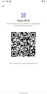 Photo Courtesy By 9To5Google: QR Code And Wi-Fi Password