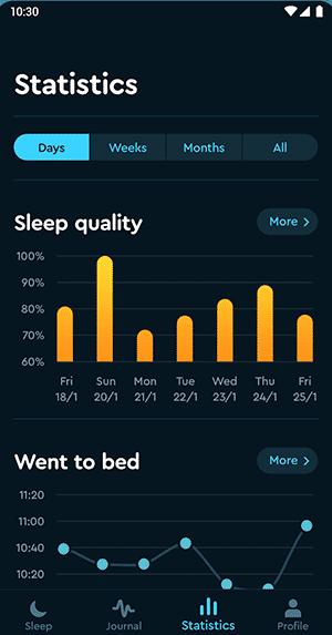 Simple Alarm Clocks for Android - Sleep Cycle - Sleep Statistics