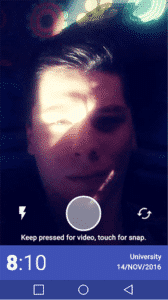 Simple Clock Apps for Android - Snap Me Up - Selfie Mode