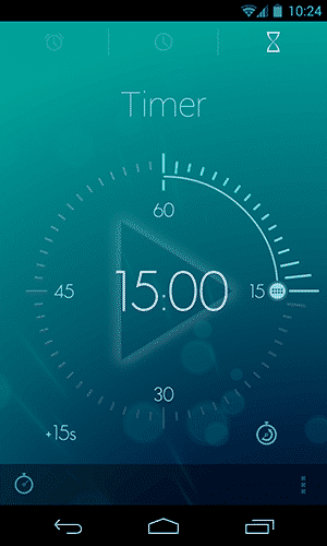 Simple Clcok Apps for Android - Timely - Timer Mode