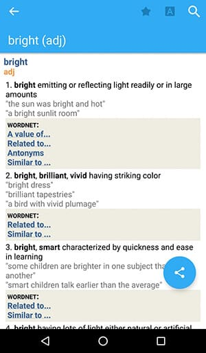 Free Dictionary App for Android -Word Defintion - Advanced English Dictionary