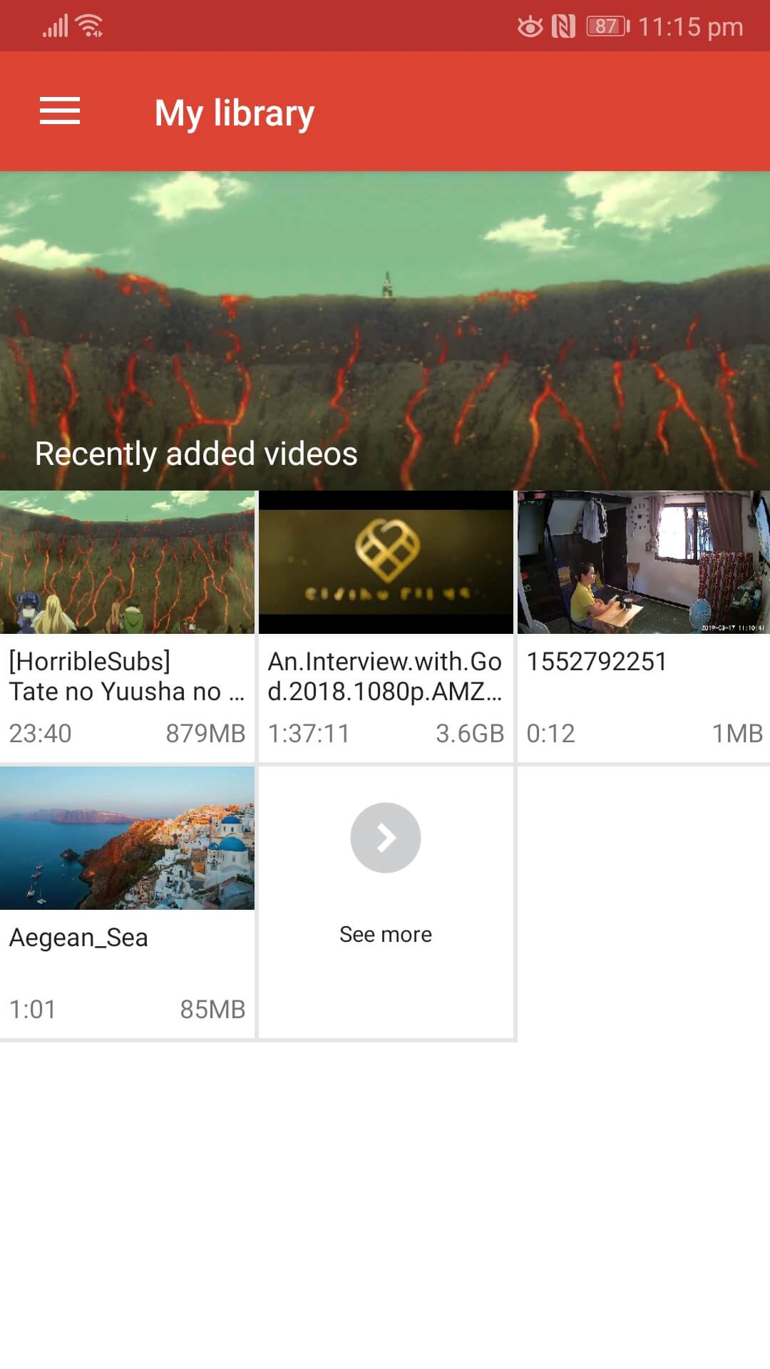 Video & TV SideView: Remote - Library Interface