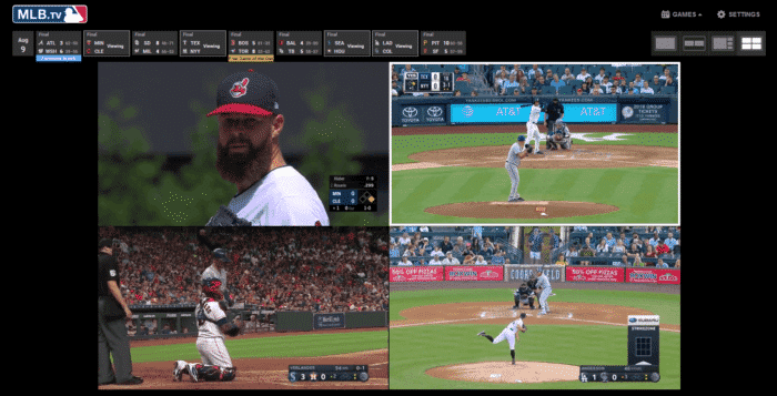 MultiView - watch up to 4 games at once