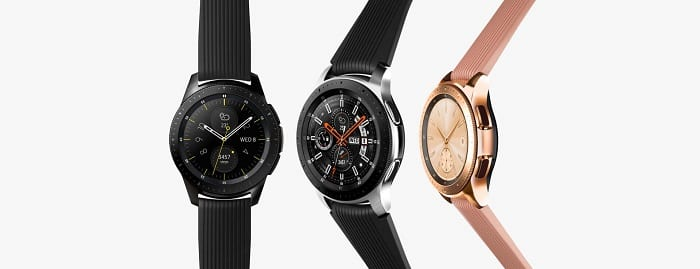 Galaxy Watch silver black rose gold