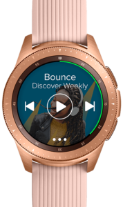 Galaxy Watch music media
