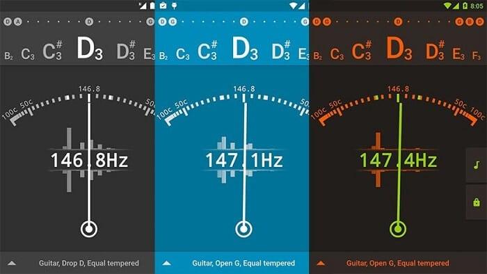 gStrings guitar tuner app