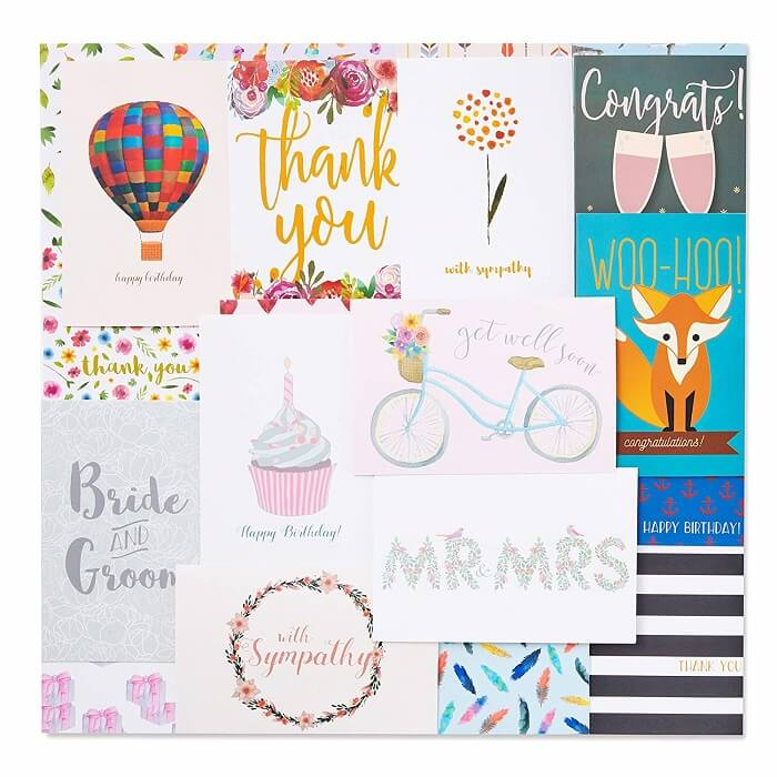 48 Pack Assorted Greeting Cards