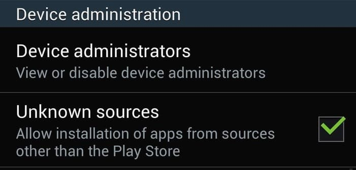 Go to Settings and check Unknown Sources