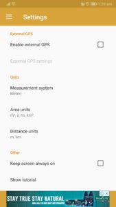 Android GPS Fields Area Measure app