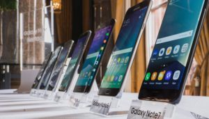 Line-up of Samsung's Galaxy Note series