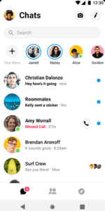 Best VOIP apps and SIP apps for Android - Facebook Messenger - Main Interface