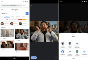 Steps on sharing GIFs directly from Google Images