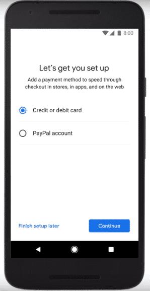 add a card on Google Pay