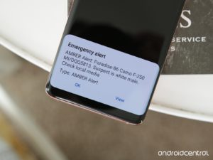 Emergency alert on an Android device (Photo credits: Android Central)
