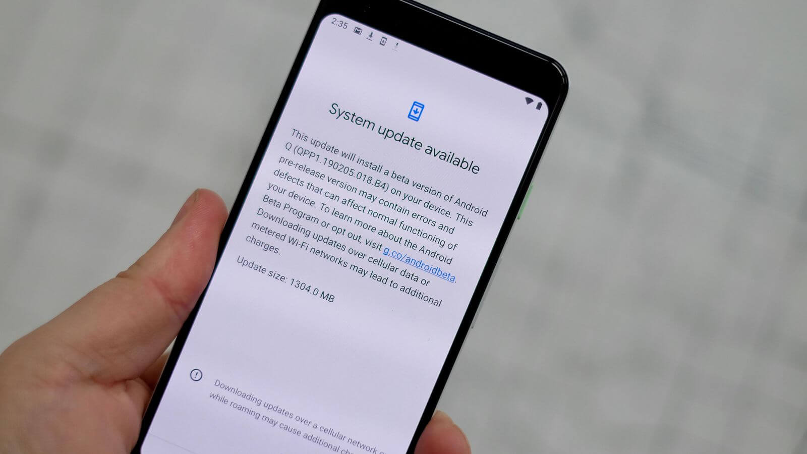 Google temporarily paused its Android Q beta updates after the bootlooping of some Pixel smartphones