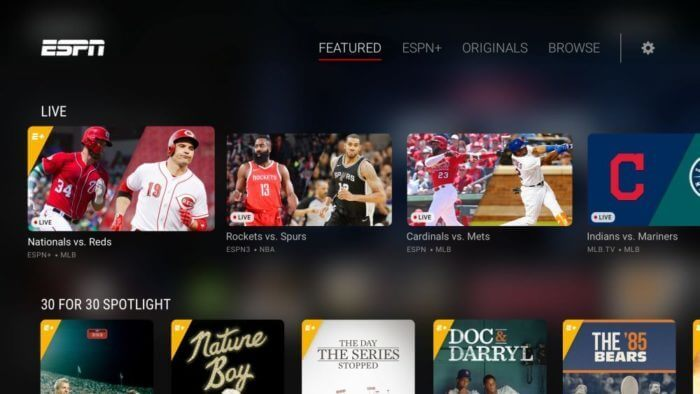ESPN offers lots of content about various sports