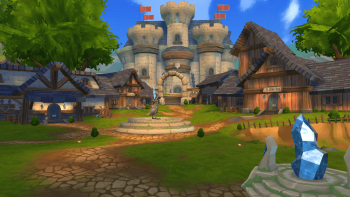 The world of Adventure Quest looks really nice
