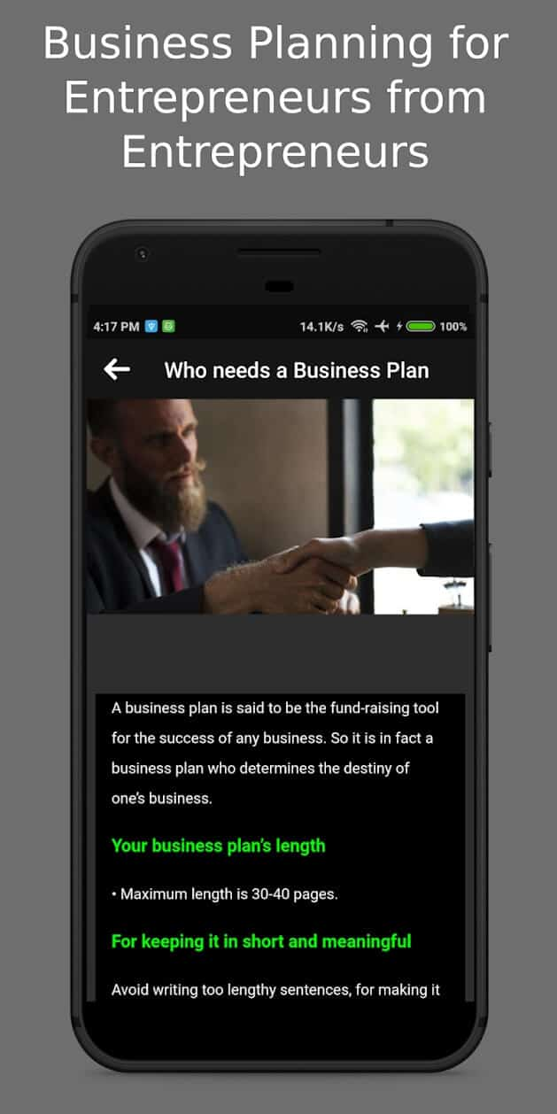 Business-Plan-Entrepreneurs-phone-application-tool-android-planner-builder