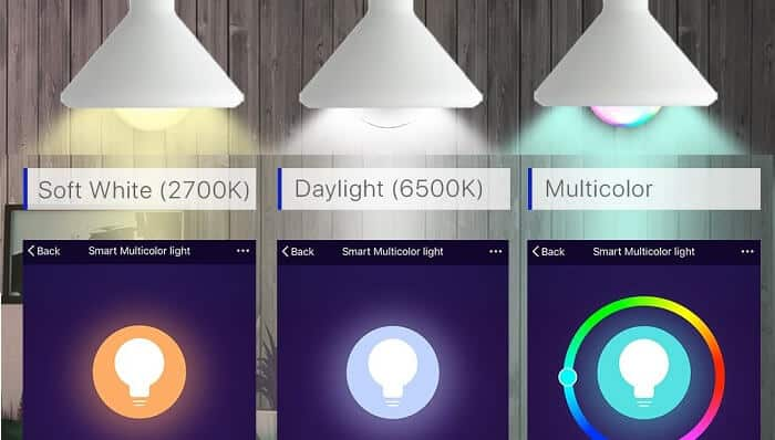 Dimable and adjustable colors