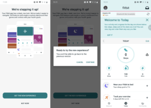 The Fitbit's fresh and redesigned app now features three tabs instead of five