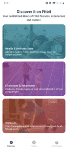 Discover tab in the redesigned Fitbit app