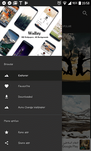 Wallzy Interface