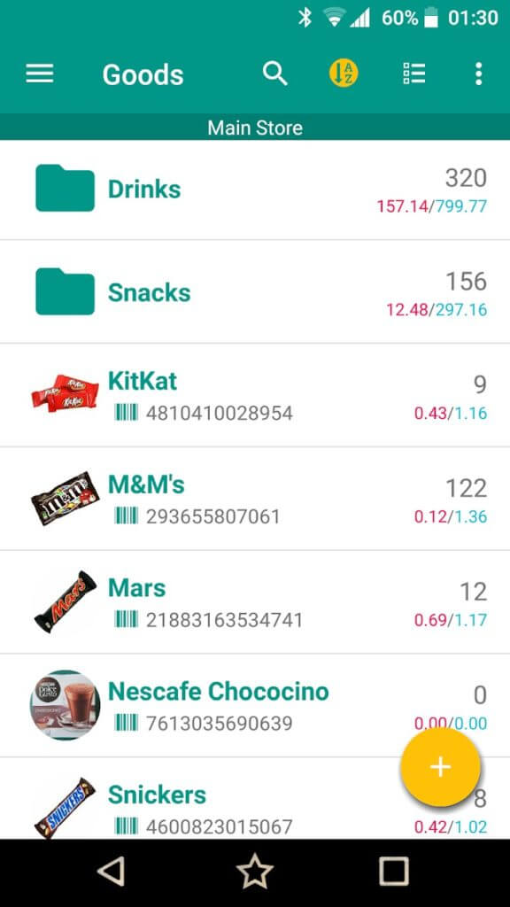 simple inventory app android