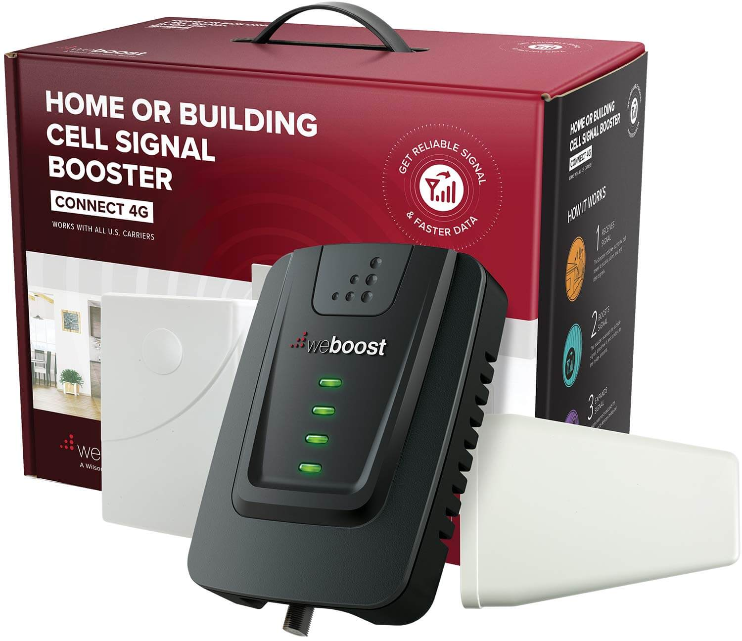 weBoost Connect 4G 470103 Indoor Cell Phone Signal Booster for Home and Office - Verizon, AT&T T-Mobile Sprint - Supports 5000 Square Foot Area 2