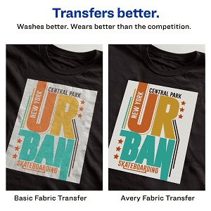 Avery Printable T-Shirt Transfers, For Use on Dark Fabrics