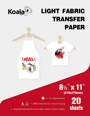 Koala Light T-shirt Transfer Paper for Light Color Fabric