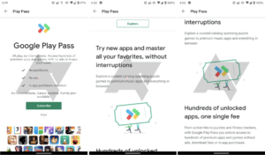 'Play Pass' is currently being tested out by Google (Photo credits: Android Police)
