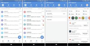 SMS Organizer app interface