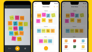 Post-it Android app – lets you create and digitizes your actual notes