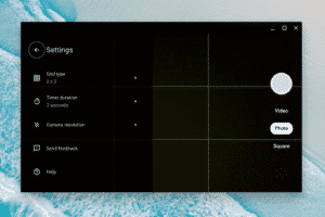 Left-side are settings of Google camera