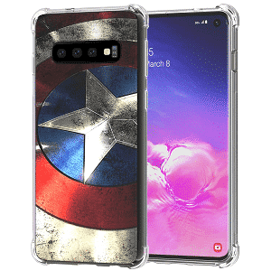 Ailiber Captain America's Shield Super Hero Galaxy S10 Case