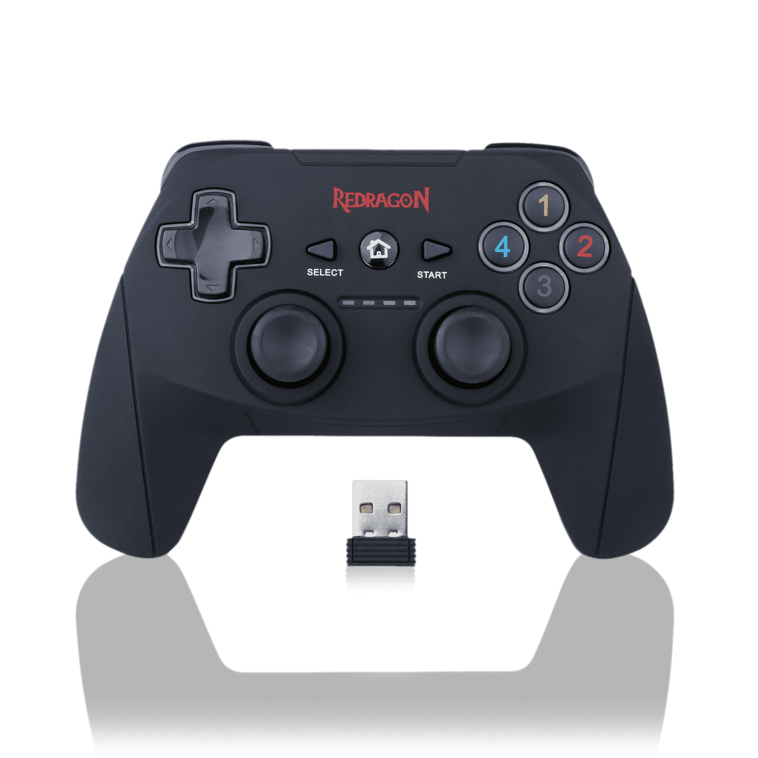 Redragon G808 Gamepad, PC Game Controller, Joystick with Dual Vibration, Harrow, for Windows PC, PS3, Playstation, Android, Xbox 360