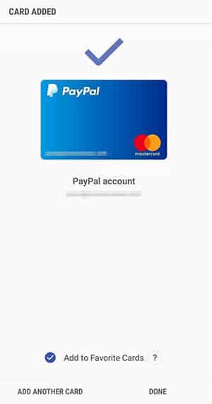 Samsung Pay - Paypal Confirmation