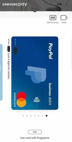Samsung Pay - Verification