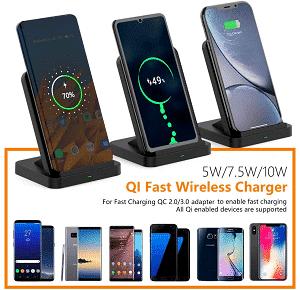 Wireless Charger with Cooling Fan by ELE-Jiaruila