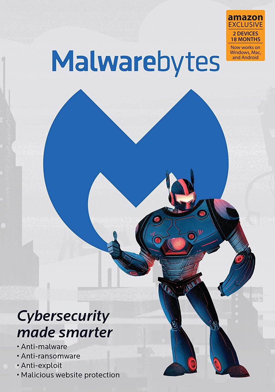 Malwarebytes Amazon Exclusive 18 Months 2 Devices (PC Mac Android)