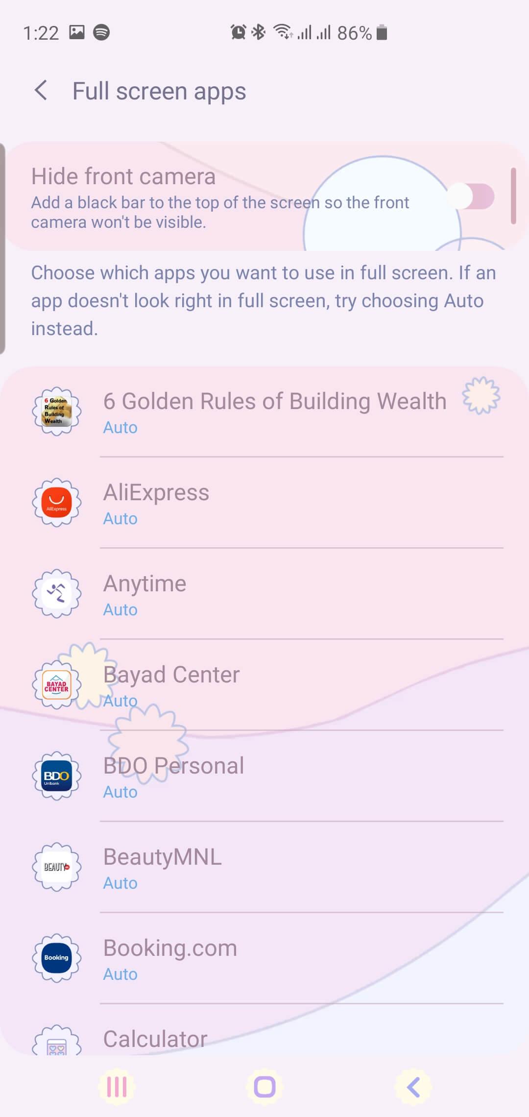 Full Screen Apps