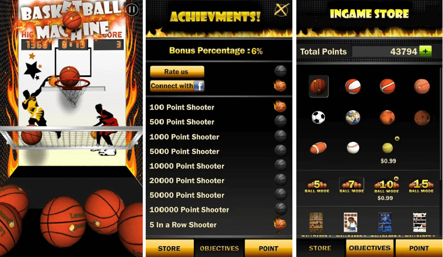 Arcade Game for Android: Basketball Arcade Game: Achievement & Store